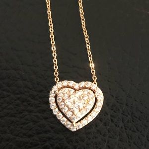 Cuz Heart Necklace Rose Gold plated
